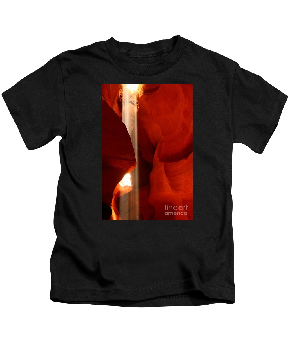 Antelope Slot Canyon Kids T-Shirt featuring the photograph Ethereal Light by Christiane Schulze Art And Photography