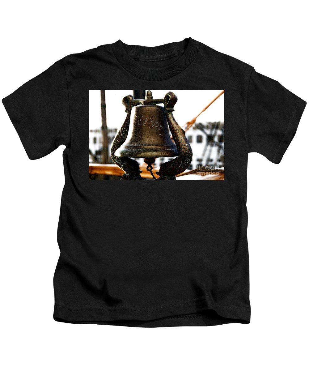 Euterpe Kids T-Shirt featuring the photograph Euterpe Bell by Linda Shafer