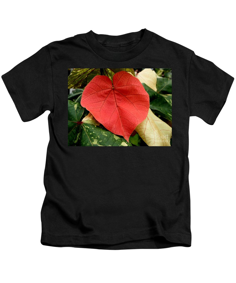 Hau Kids T-Shirt featuring the photograph Evening Hau Tree Leaves by Mary Deal