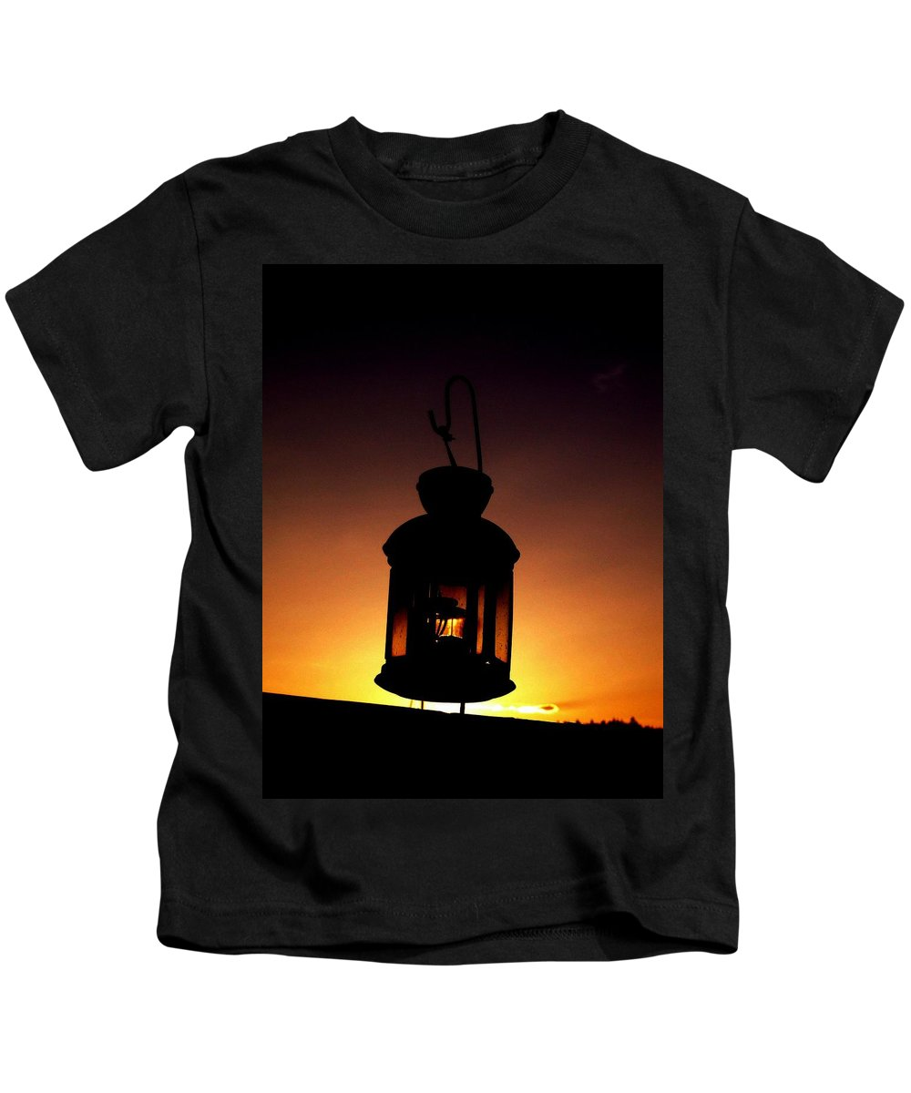 Lantern Kids T-Shirt featuring the photograph Evening Lantern by Tim Allen