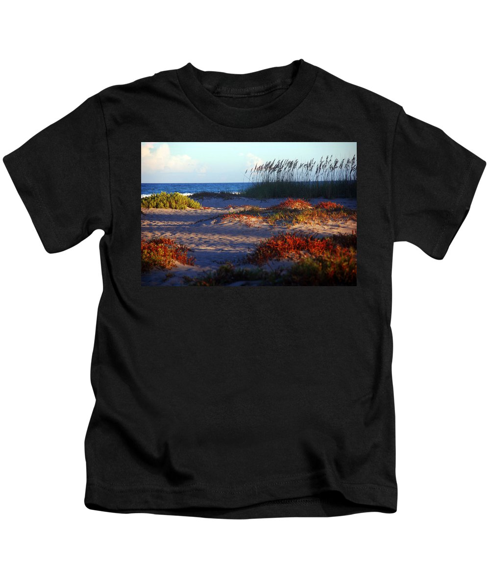Beach Kids T-Shirt featuring the photograph Evening Light At The Beach by Susanne Van Hulst