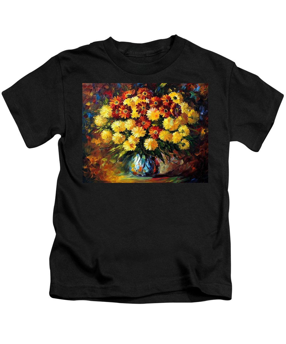 Afremov Kids T-Shirt featuring the painting Evening Mood by Leonid Afremov