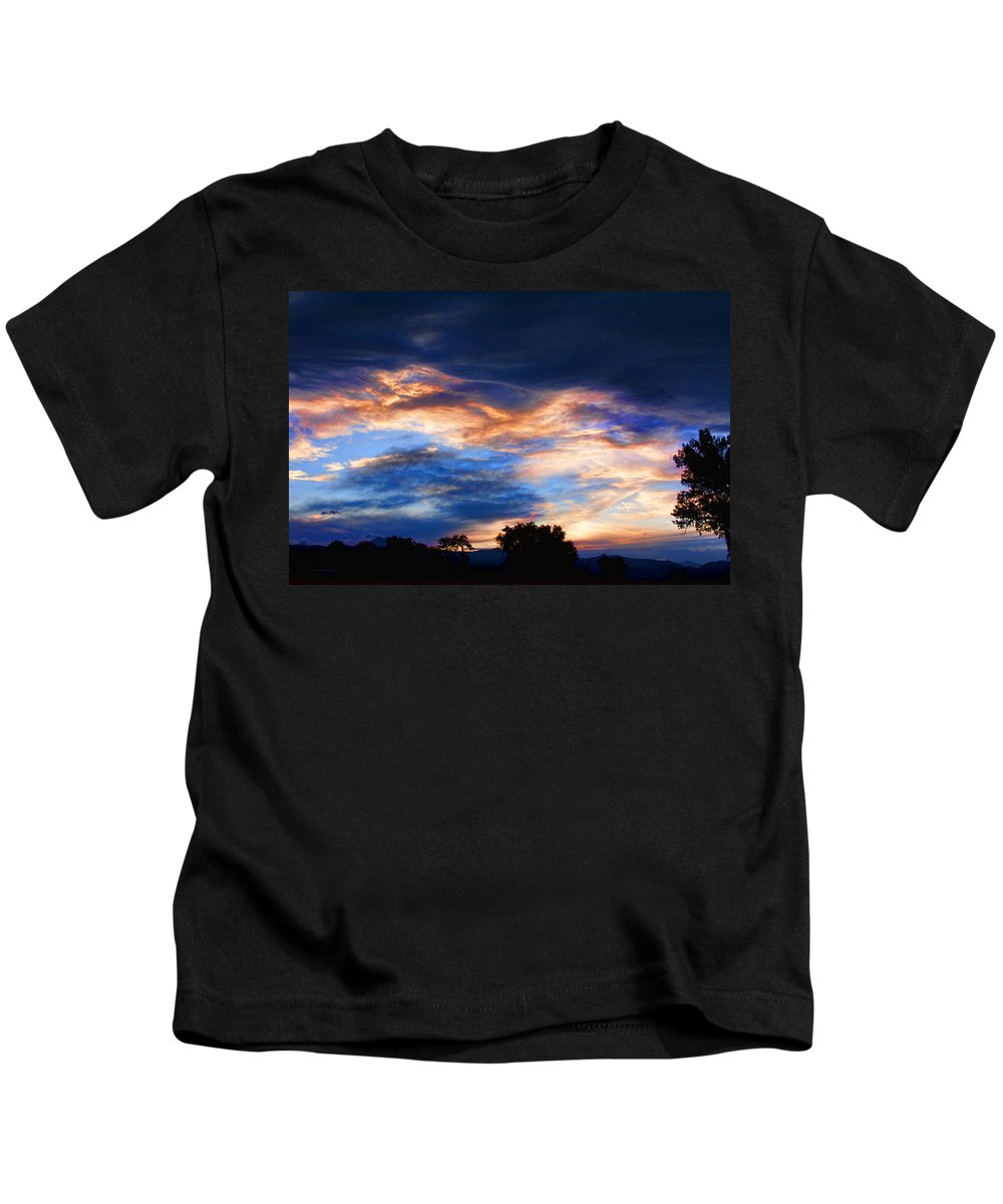 nature Photography Kids T-Shirt featuring the photograph Evening Sky by James BO Insogna