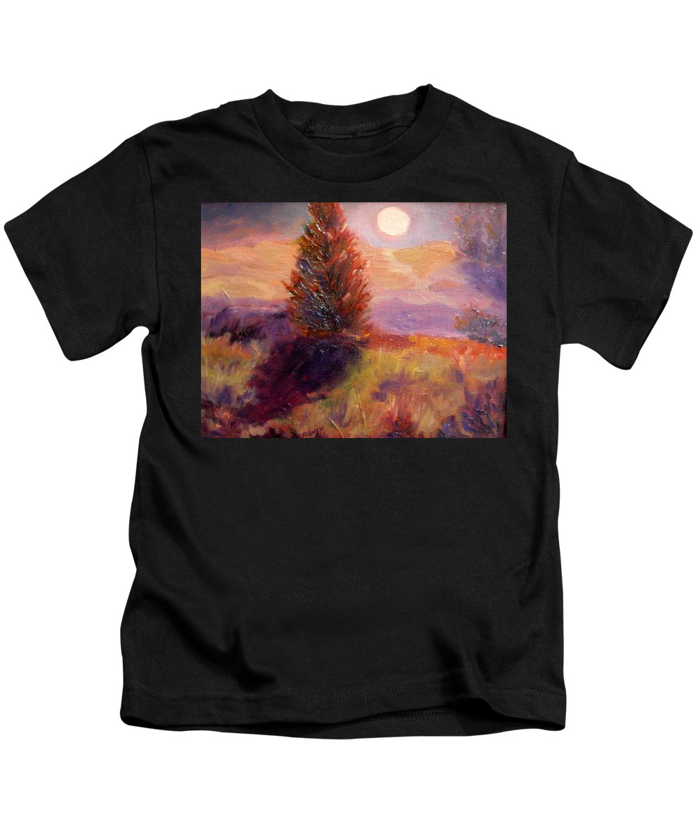 Kids T-Shirt featuring the painting Evening Splendor by Rose Lynch