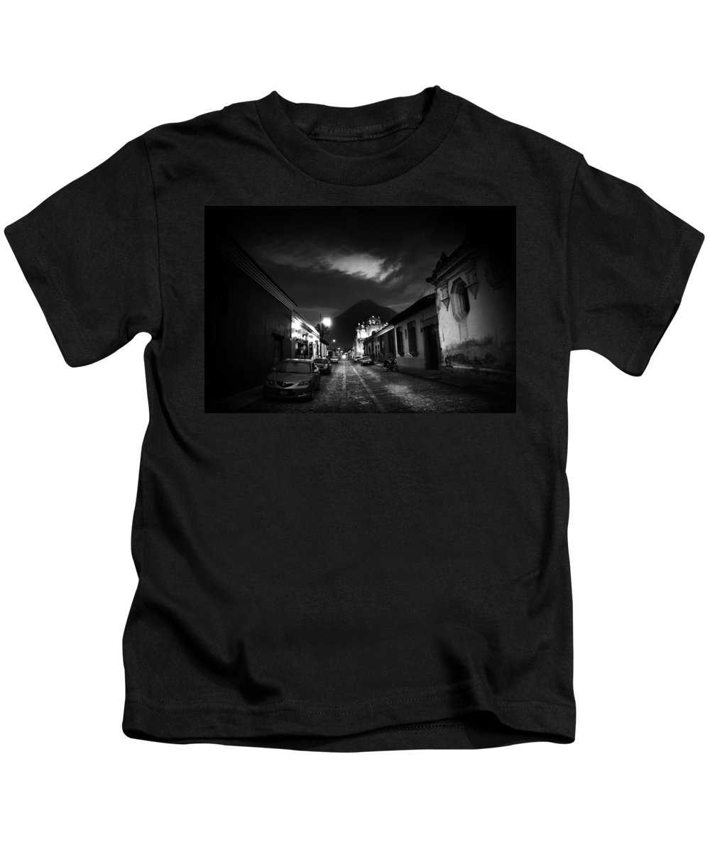 Volcano Kids T-Shirt featuring the photograph Evening Under The Volcano by Tom Bell