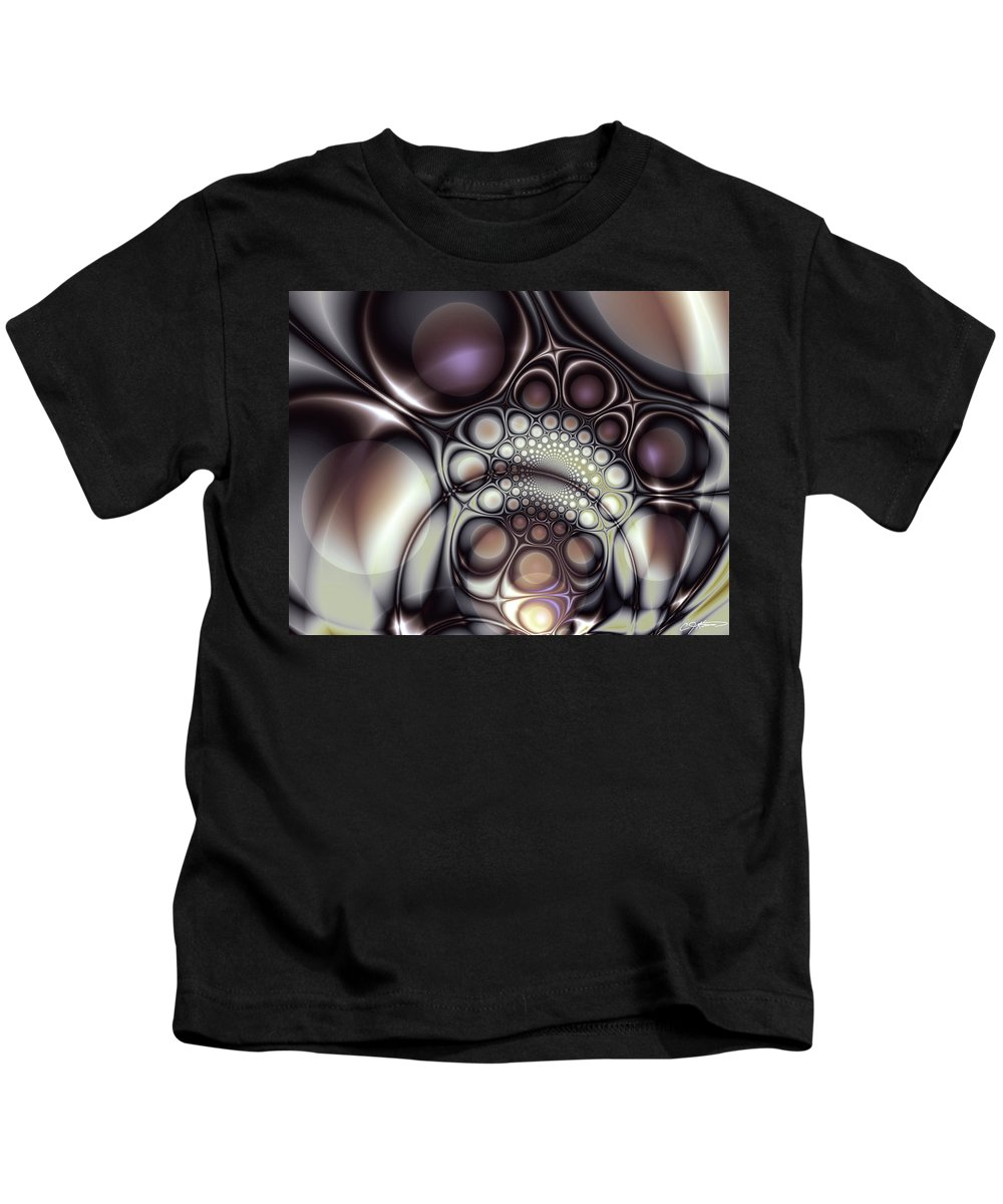 Abstract Kids T-Shirt featuring the digital art Everything In Its Place by Casey Kotas