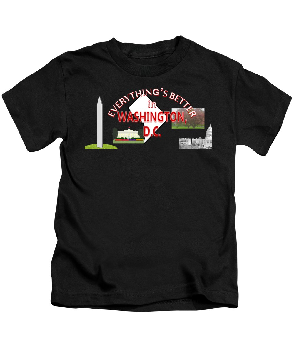 Washington Monument Kids T-Shirts