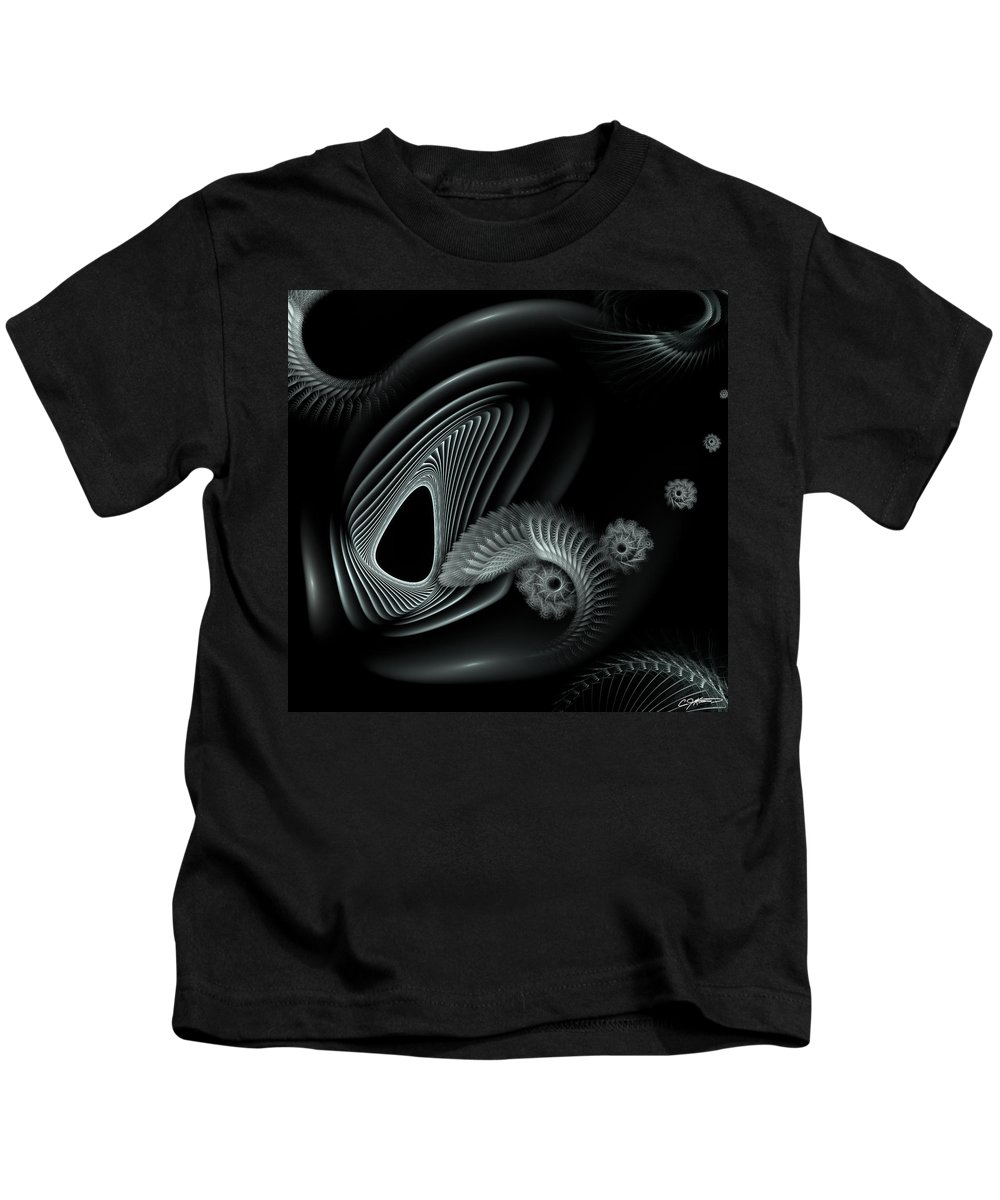 Abstract Kids T-Shirt featuring the digital art Evincing Insatiability by Casey Kotas