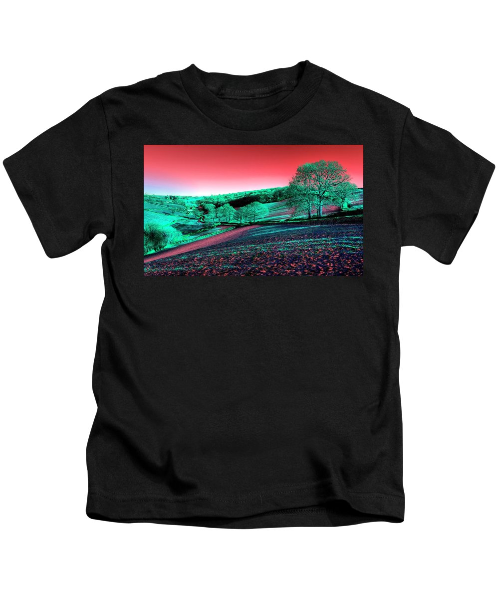 Pink Kids T-Shirt featuring the photograph Exmoor In The Pink by Rob Hawkins