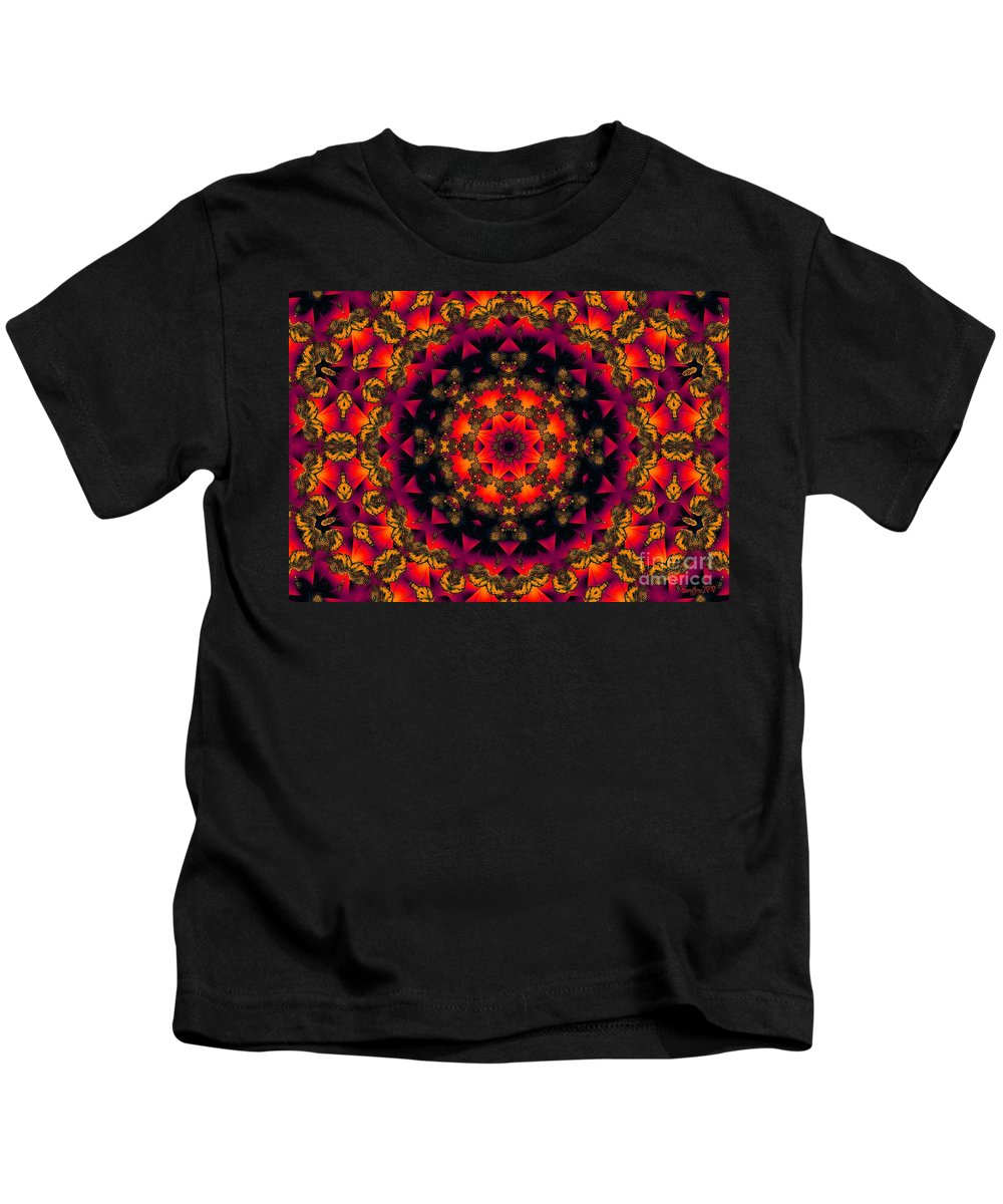 Colorful Kids T-Shirt featuring the digital art Exotic Nights by Robert Orinski