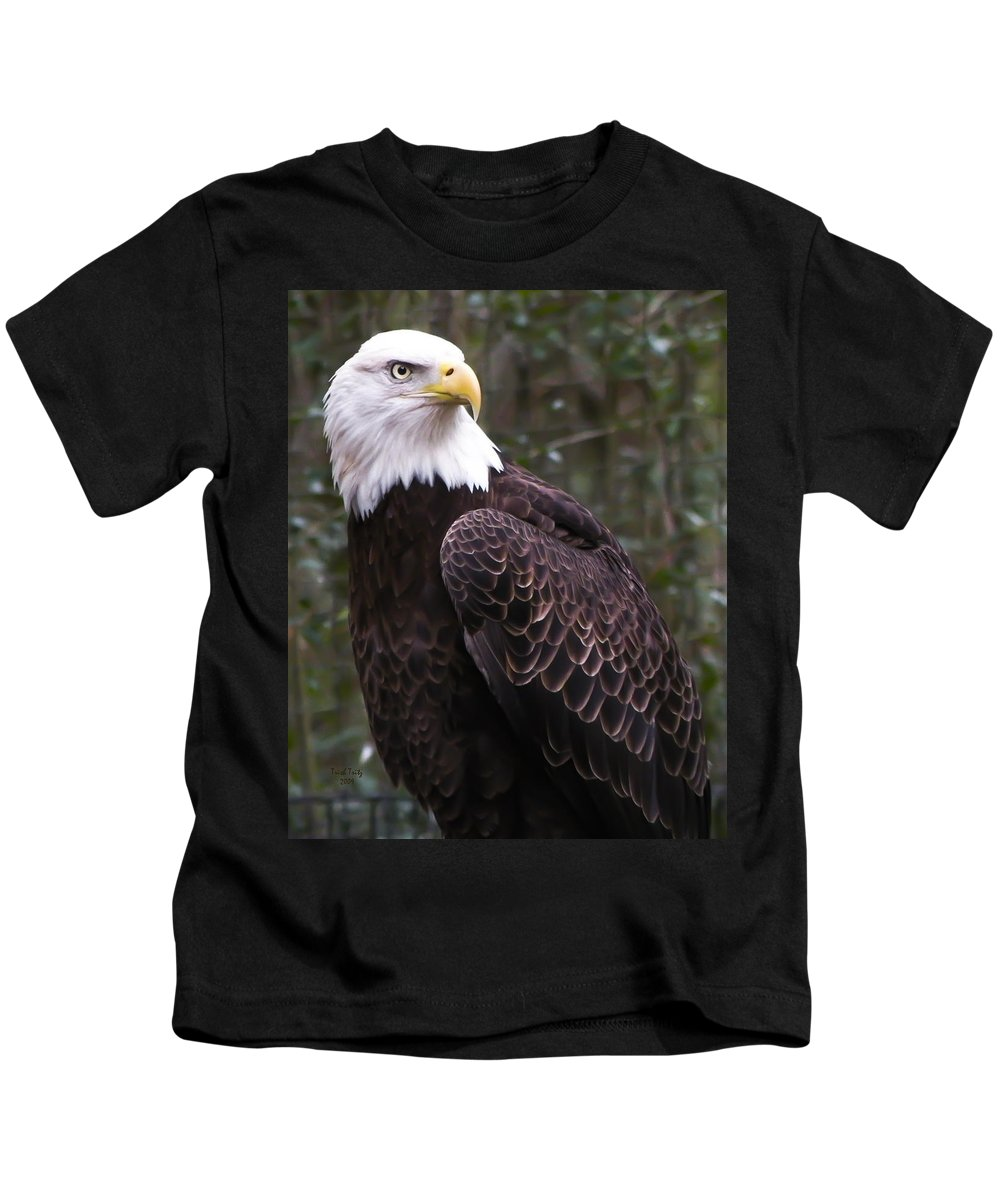 Bird Kids T-Shirt featuring the photograph Eye Of The Eagle by Trish Tritz