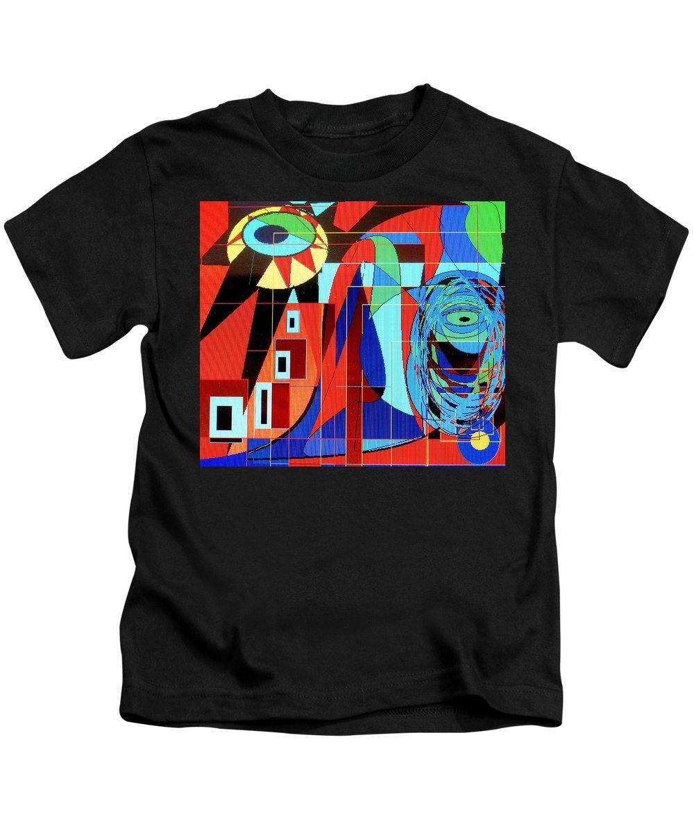 Eye Kids T-Shirt featuring the digital art Eye Of The Tiger by Ian MacDonald
