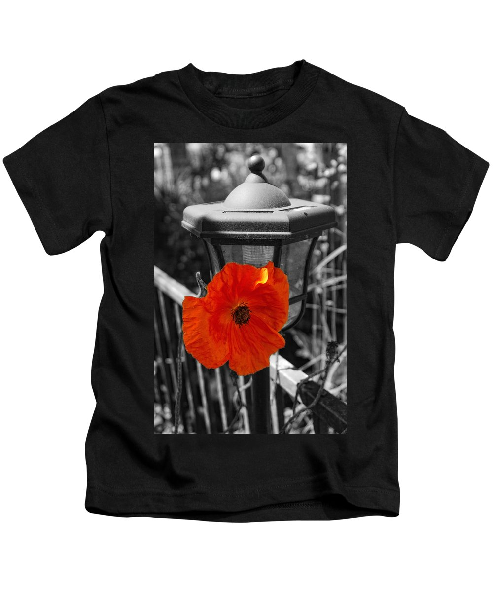 Poppy Kids T-Shirt featuring the photograph Eye Popper by Donna Blackhall