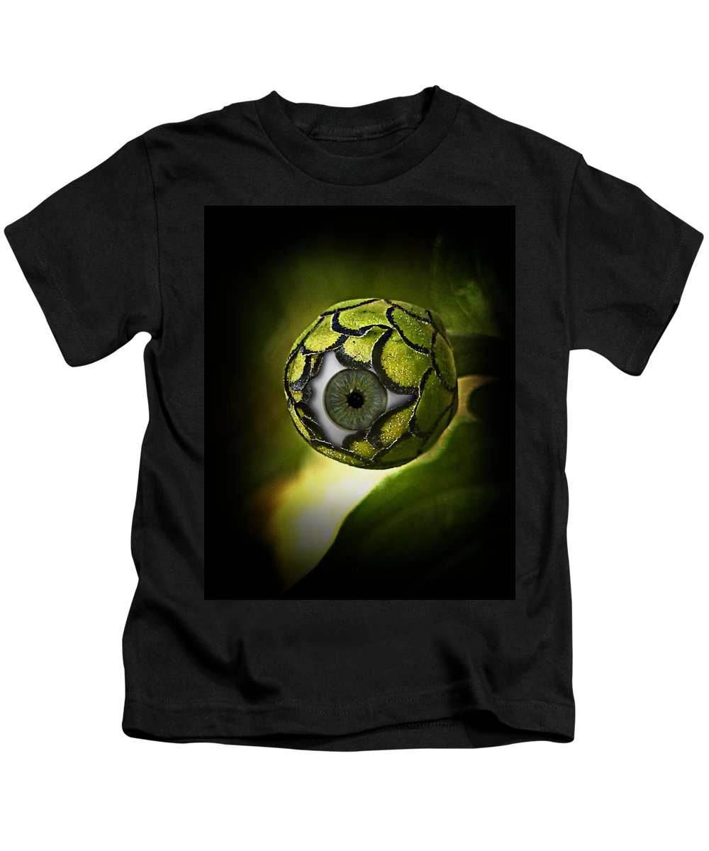 Sci-fi Kids T-Shirt featuring the photograph Eye Will See You In The Garden by Gravityx9 Designs