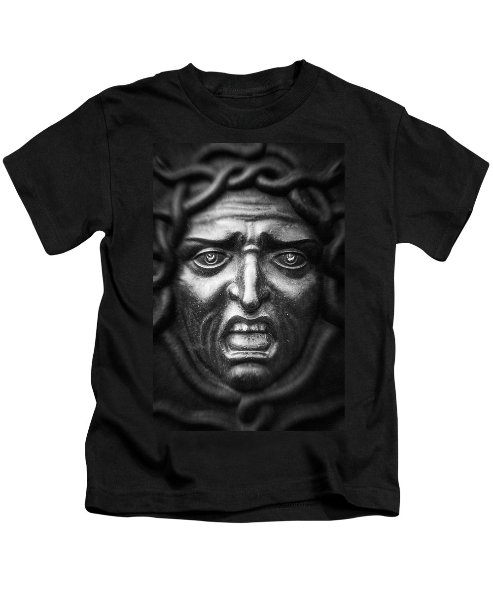 Ancient Kids T-Shirt featuring the photograph Face #9874 by Andrey Godyaykin