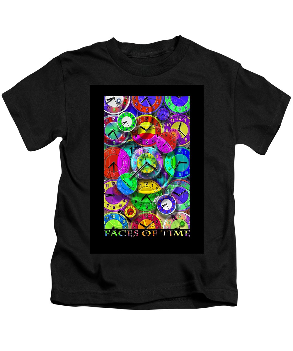 Portrait Kids T-Shirt featuring the digital art Faces Of Time 1 by Mike McGlothlen