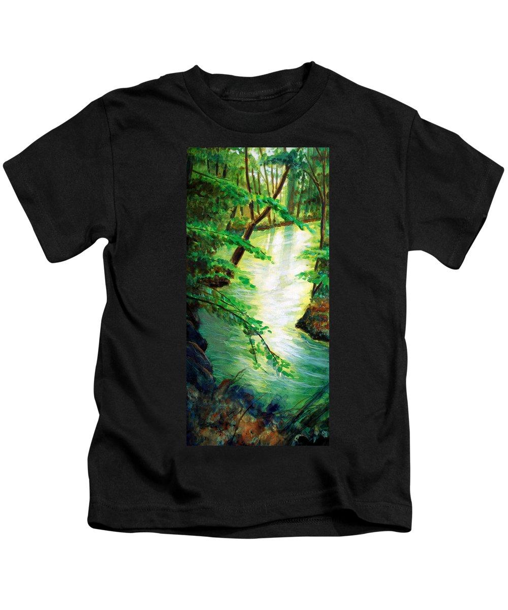 Forest Kids T-Shirt featuring the painting Fairfax Summer by Ken Meyer