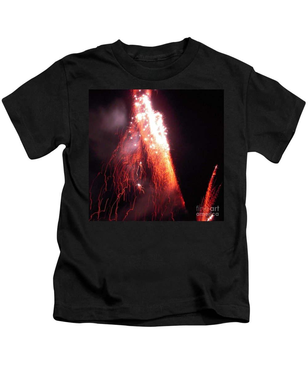 Fire Kids T-Shirt featuring the photograph Fait In The Night by Vesna Antic