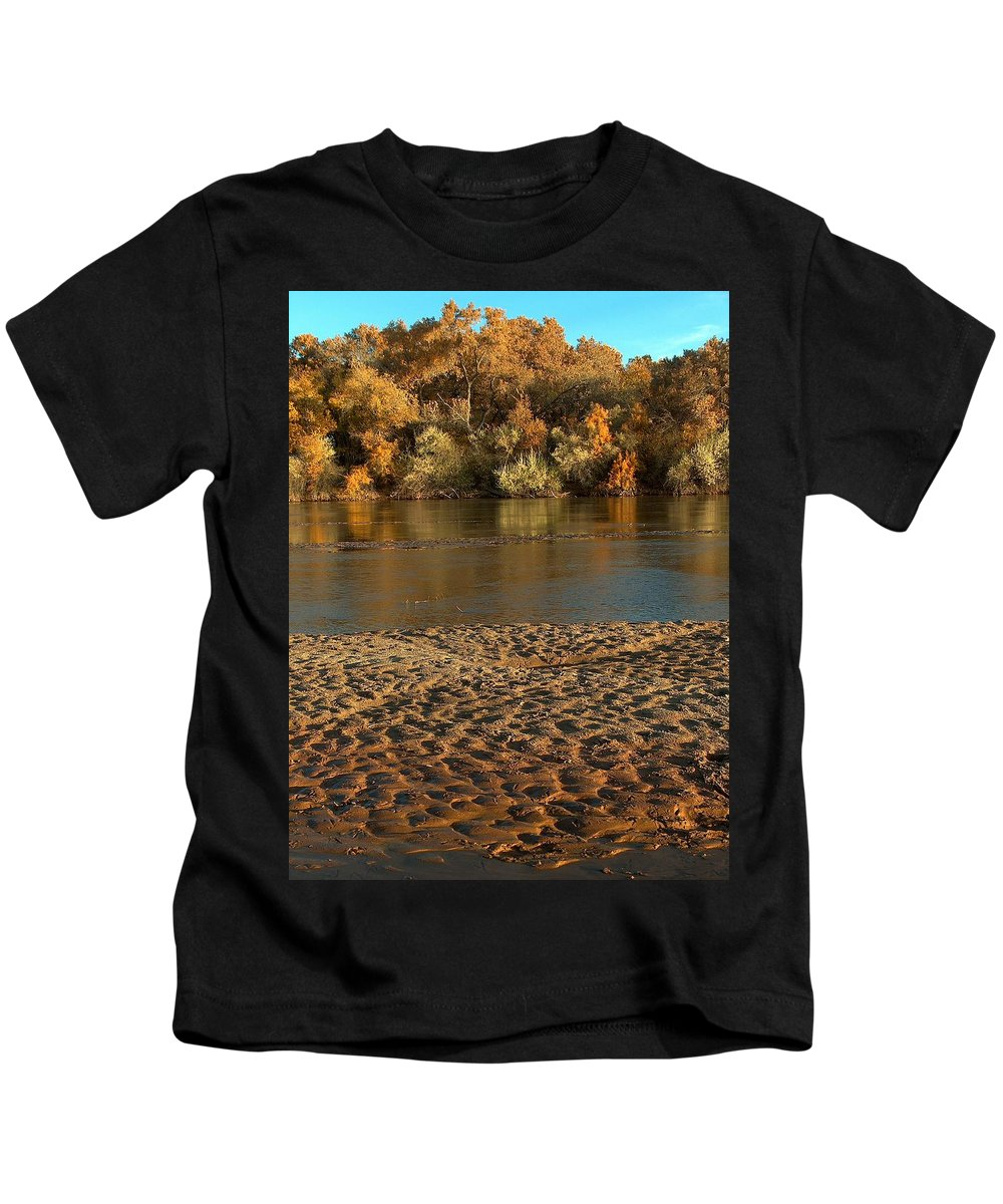 Fall Colors Kids T-Shirt featuring the photograph Fall Colors On The Rio Grande 1 by Tim McCarthy