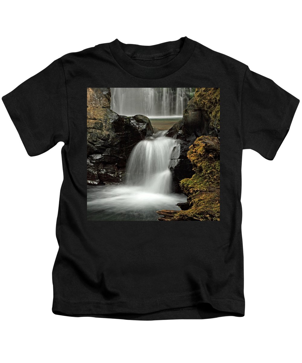 Clearwater Falls Kids T-Shirt featuring the photograph Fall Creek Falls 5 by Ingrid Smith-Johnsen