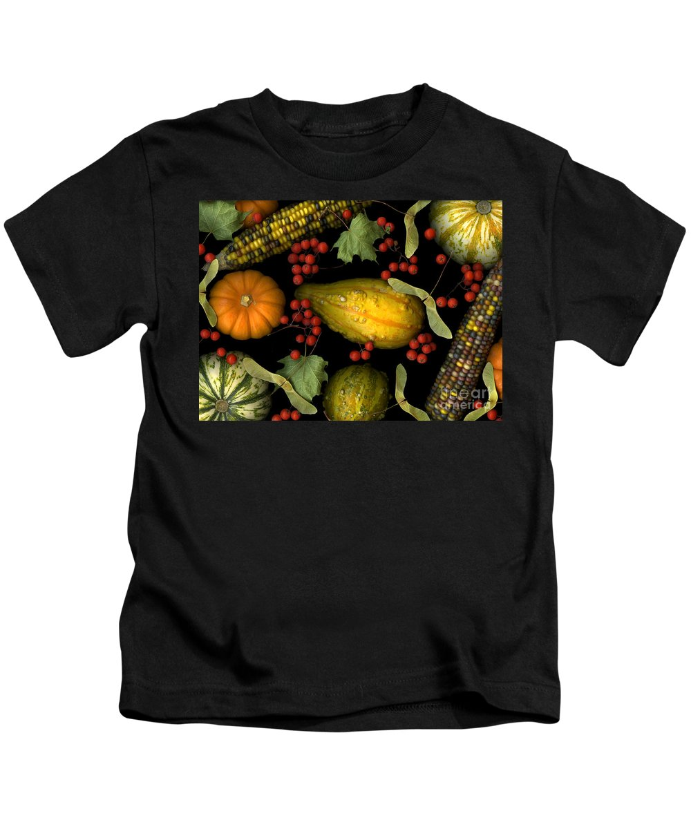 Slanec Kids T-Shirt featuring the photograph Fall Harvest by Christian Slanec