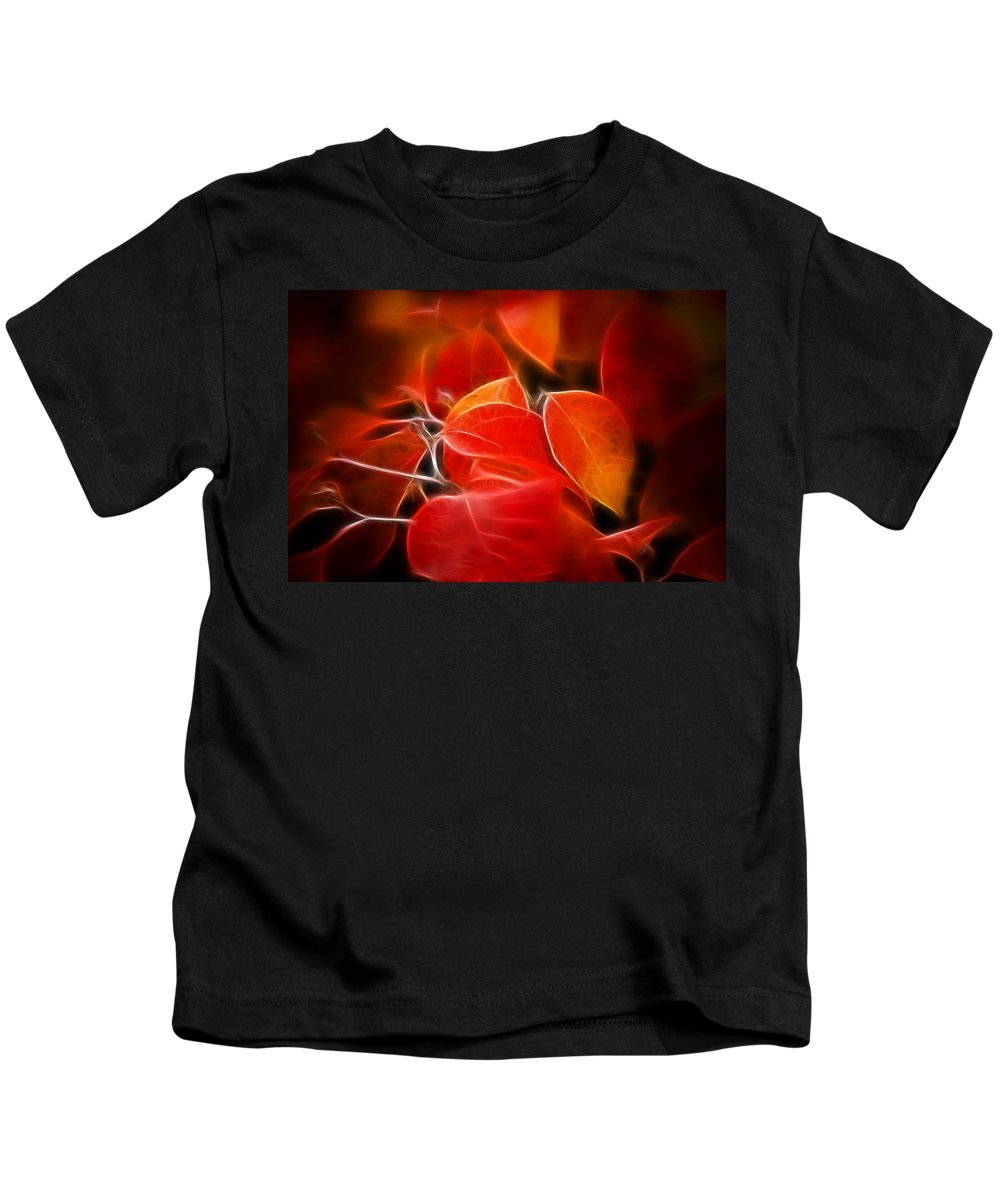 Color Kids T-Shirt featuring the photograph Fall Red 6675 by Timothy Bischoff