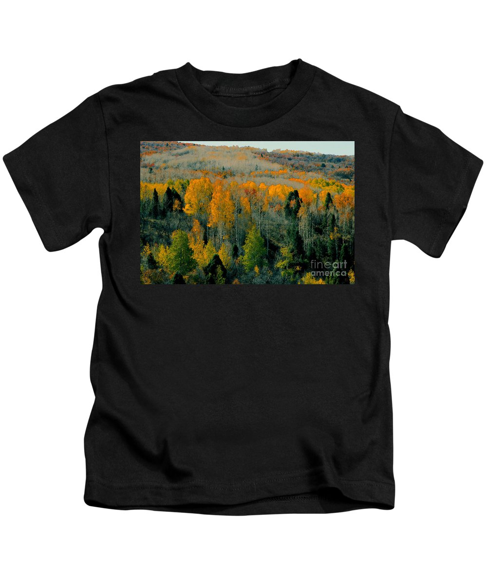 Fall Kids T-Shirt featuring the painting Fall Ridge by David Lee Thompson