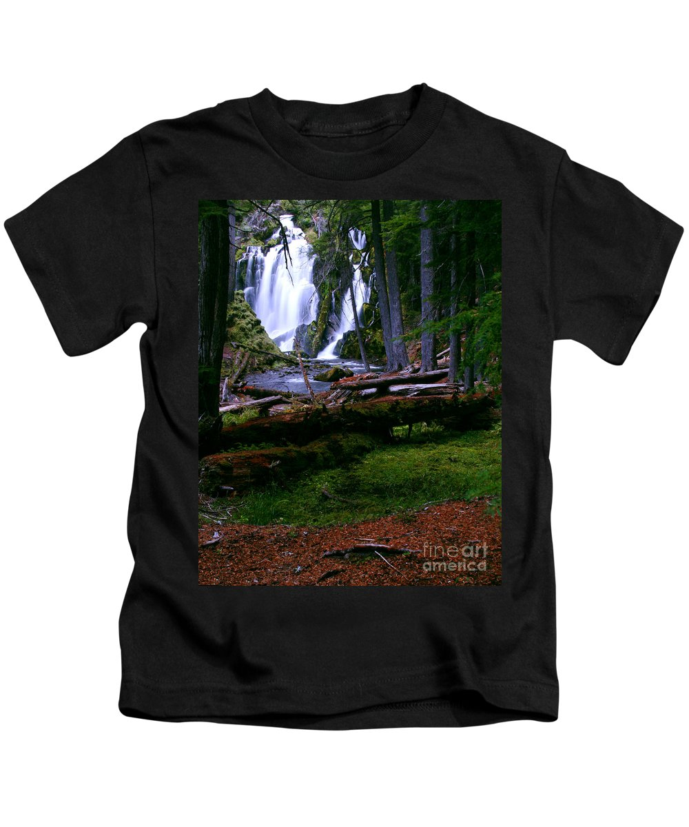 Waterfall Kids T-Shirt featuring the photograph Fall Through by Peter Piatt
