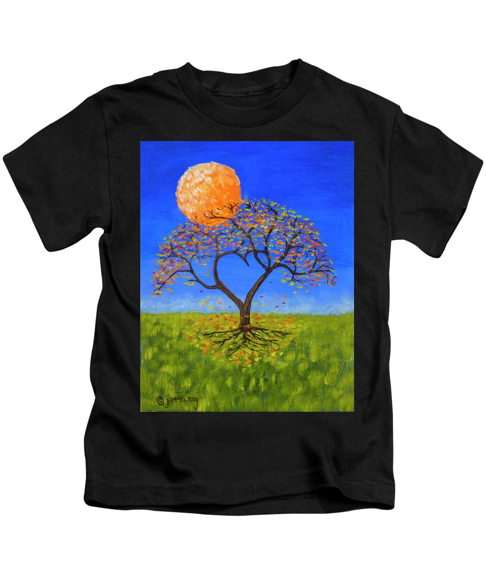 Love Kids T-Shirt featuring the painting Falling For You by Jerry McElroy