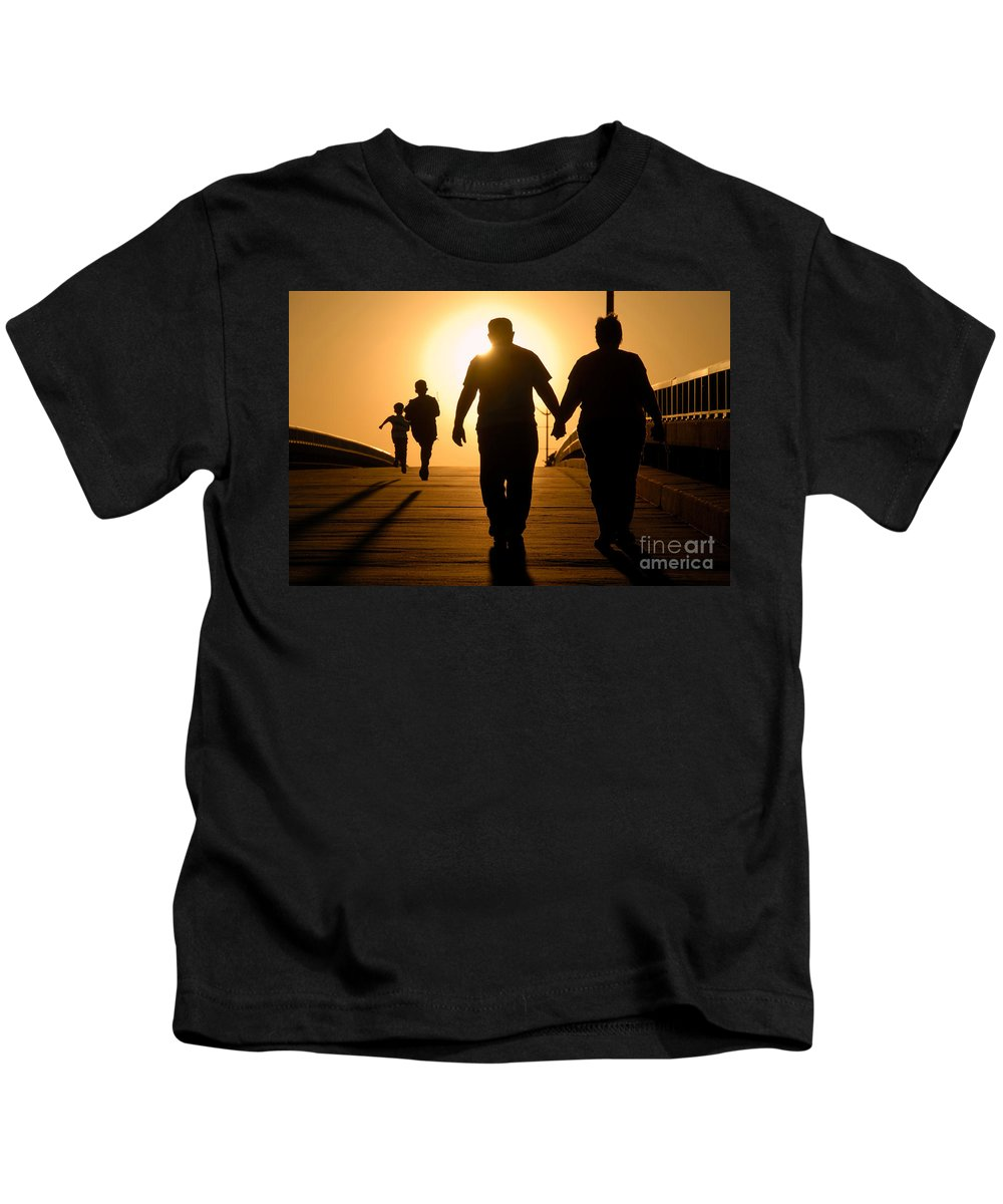 Family Kids T-Shirt featuring the photograph Family by David Lee Thompson
