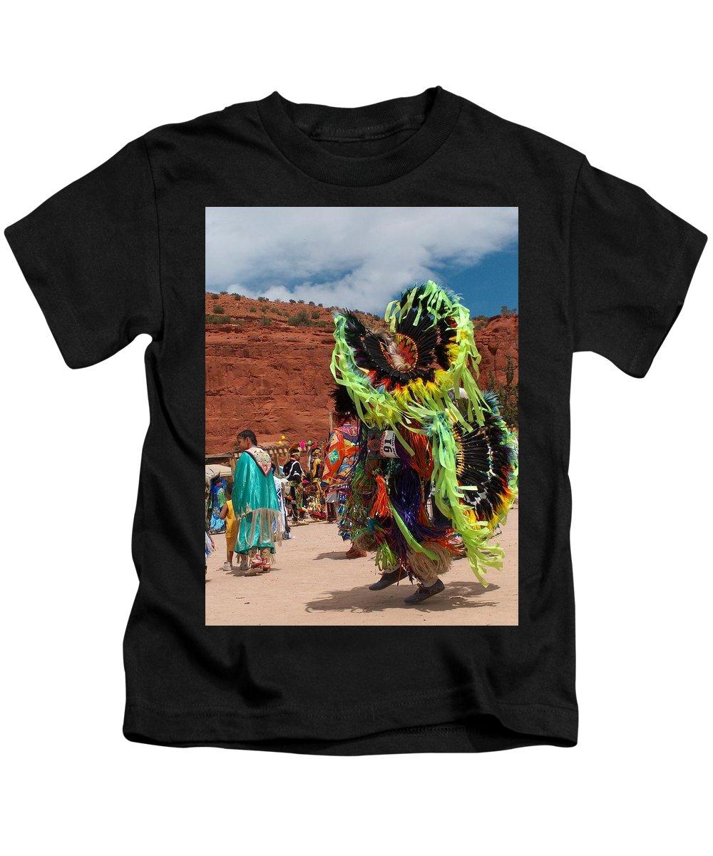 Fancy Dancer Kids T-Shirt featuring the photograph Fancy Dancer by Tim McCarthy