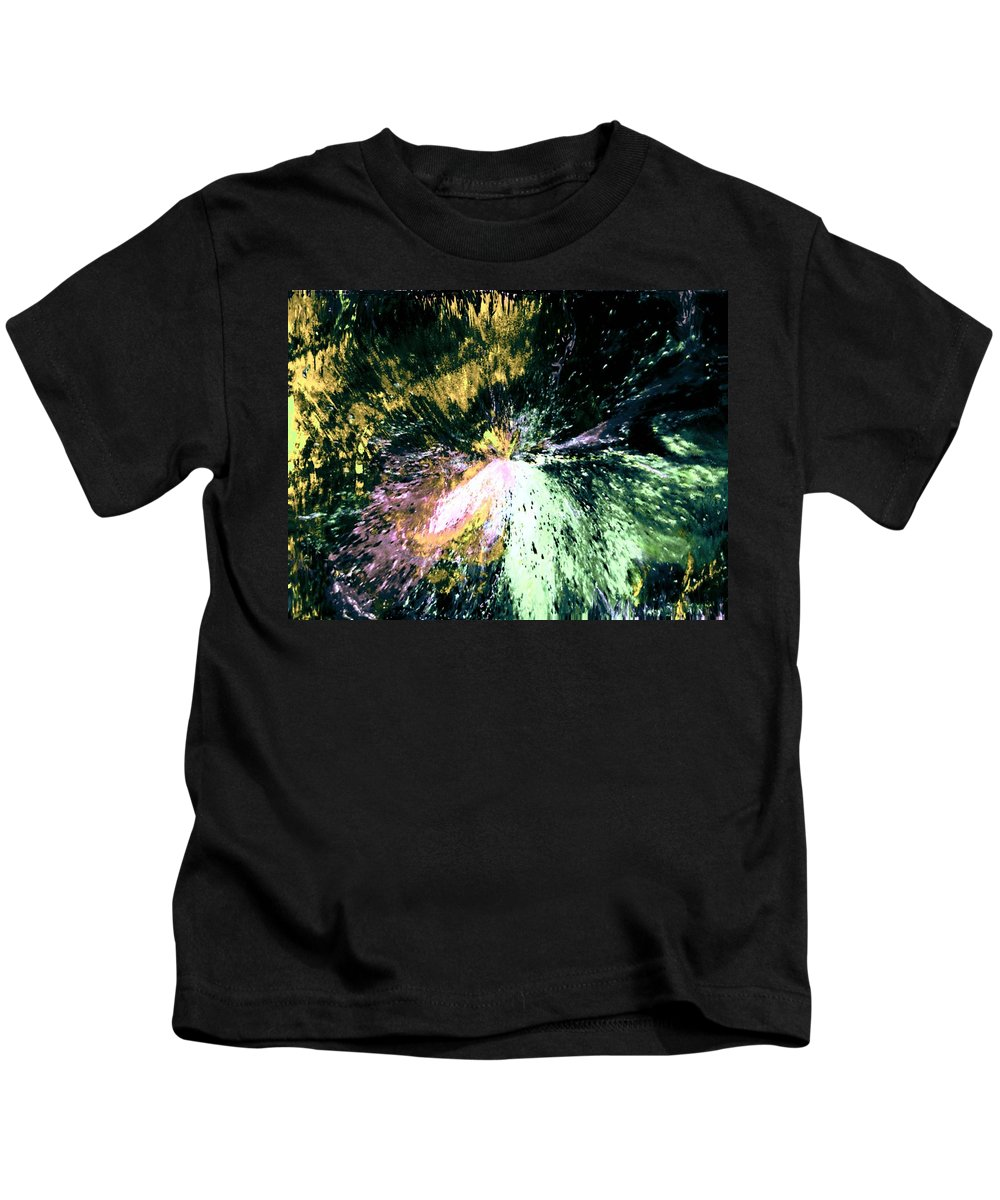 Digital Art Kids T-Shirt featuring the digital art Fanfare by Kendall Eutemey