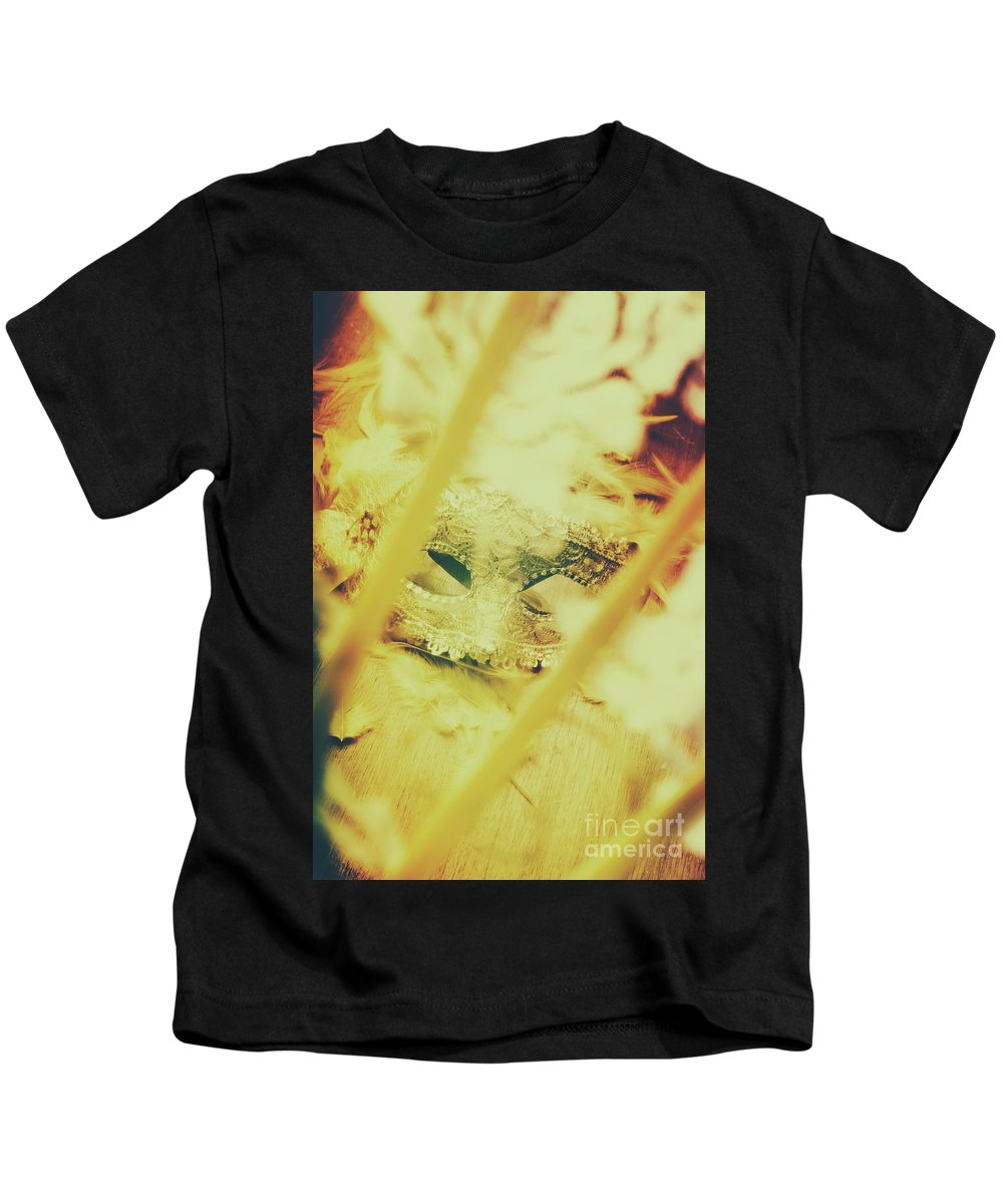 Venetian Kids T-Shirt featuring the photograph Fanning The Drama by Jorgo Photography - Wall Art Gallery