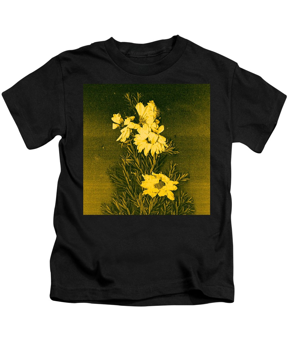 Flowers Kids T-Shirt featuring the mixed media Fantasy Tree by Pepita Selles