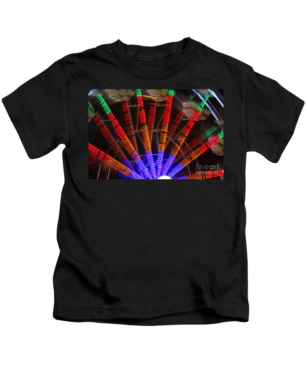 Farris Wheel Kids T-Shirt featuring the photograph Farris Wheel In Motion by James BO Insogna