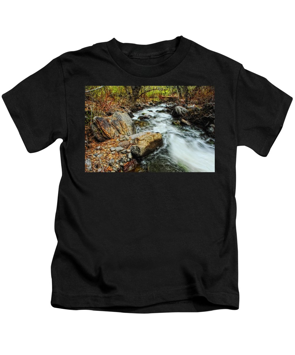 Creek Kids T-Shirt featuring the photograph Fast Forward by Donna Blackhall