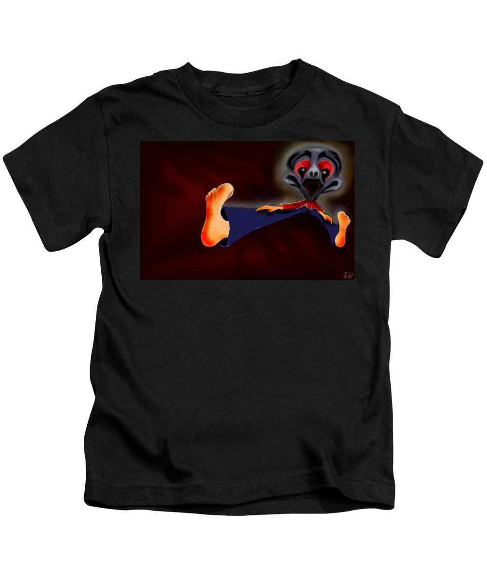 Dream Kids T-Shirt featuring the painting Fear Dream by Helmut Rottler
