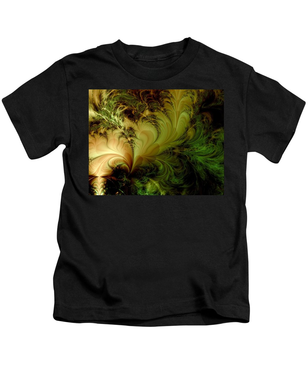 Feather Kids T-Shirt featuring the digital art Feathery Fantasy by Casey Kotas