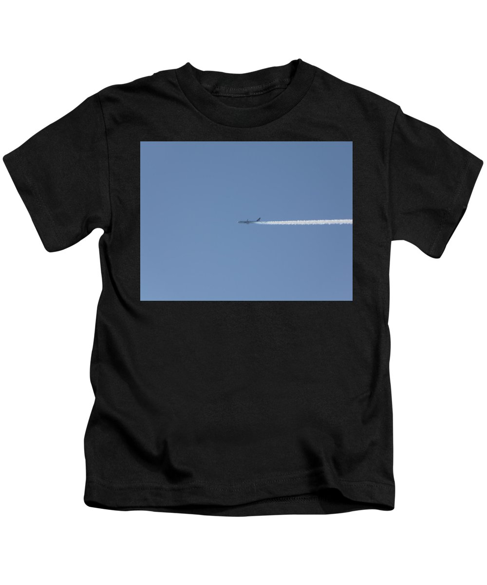Plane Kids T-Shirt featuring the photograph Fellow Plane by Valerie Ornstein