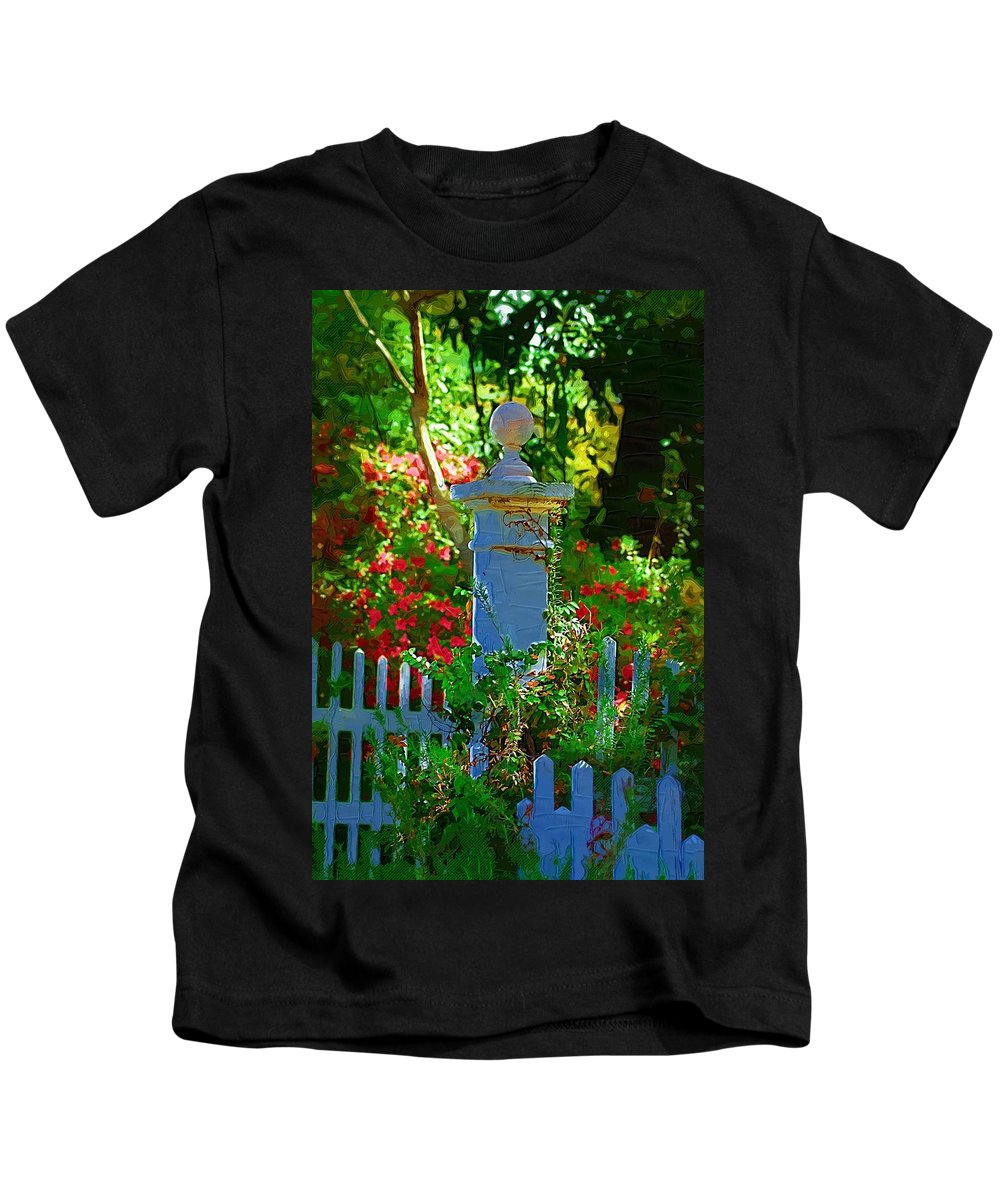 Fence Kids T-Shirt featuring the photograph Fencepost by Donna Bentley
