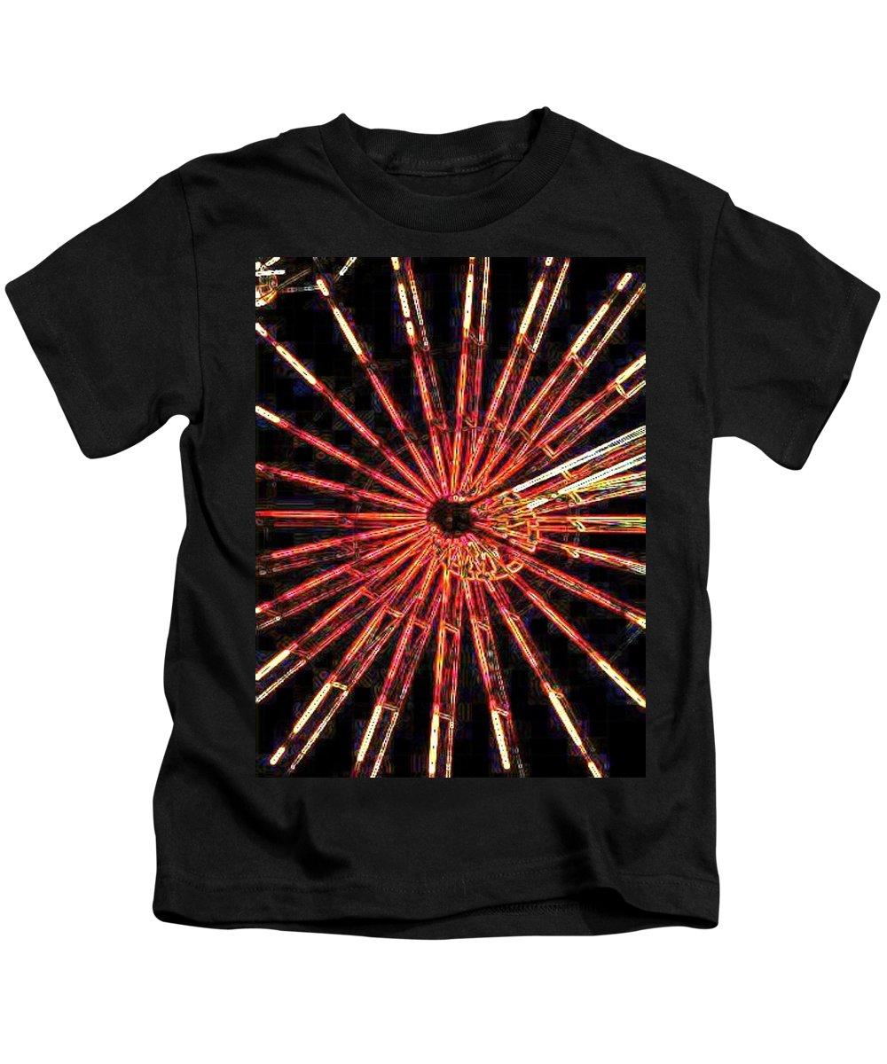 Ferris Wheel Kids T-Shirt featuring the digital art Ferris Wheel by Tim Allen