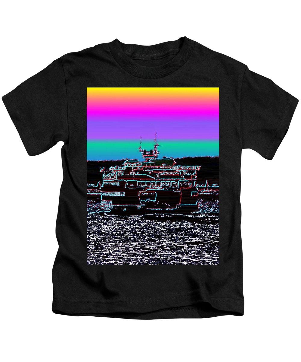 Seattle Kids T-Shirt featuring the photograph Ferry On Elliott Bay 4 by Tim Allen