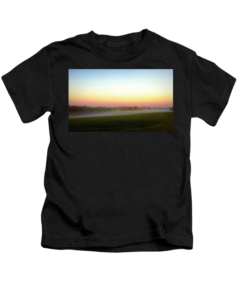 Fog Kids T-Shirt featuring the photograph Fields Of Fog by Cricket Hackmann