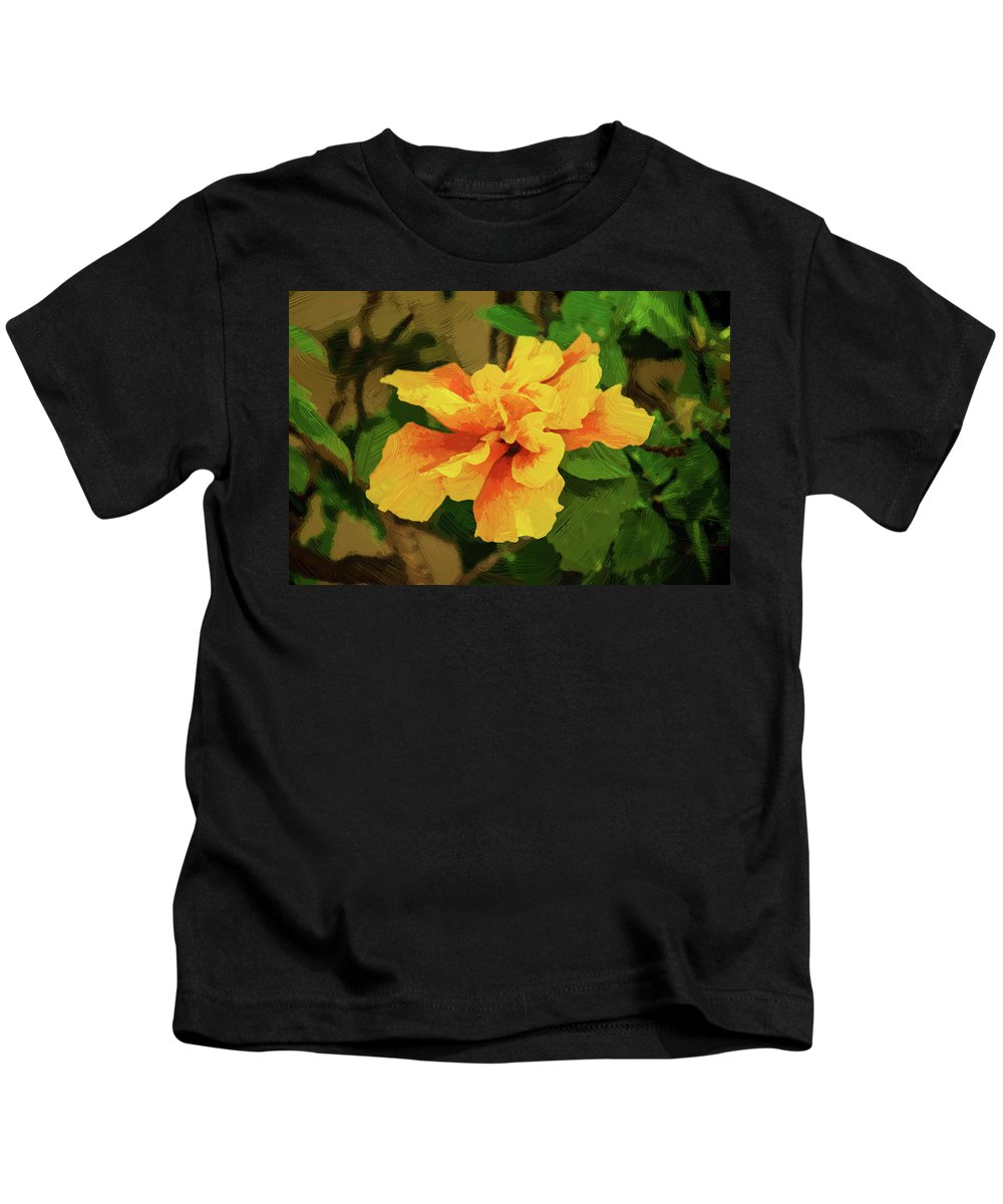 Hibiscus Kids T-Shirt featuring the photograph Fijian Hibiscus Abstract In Del Mar 2 by Kenneth Roberts