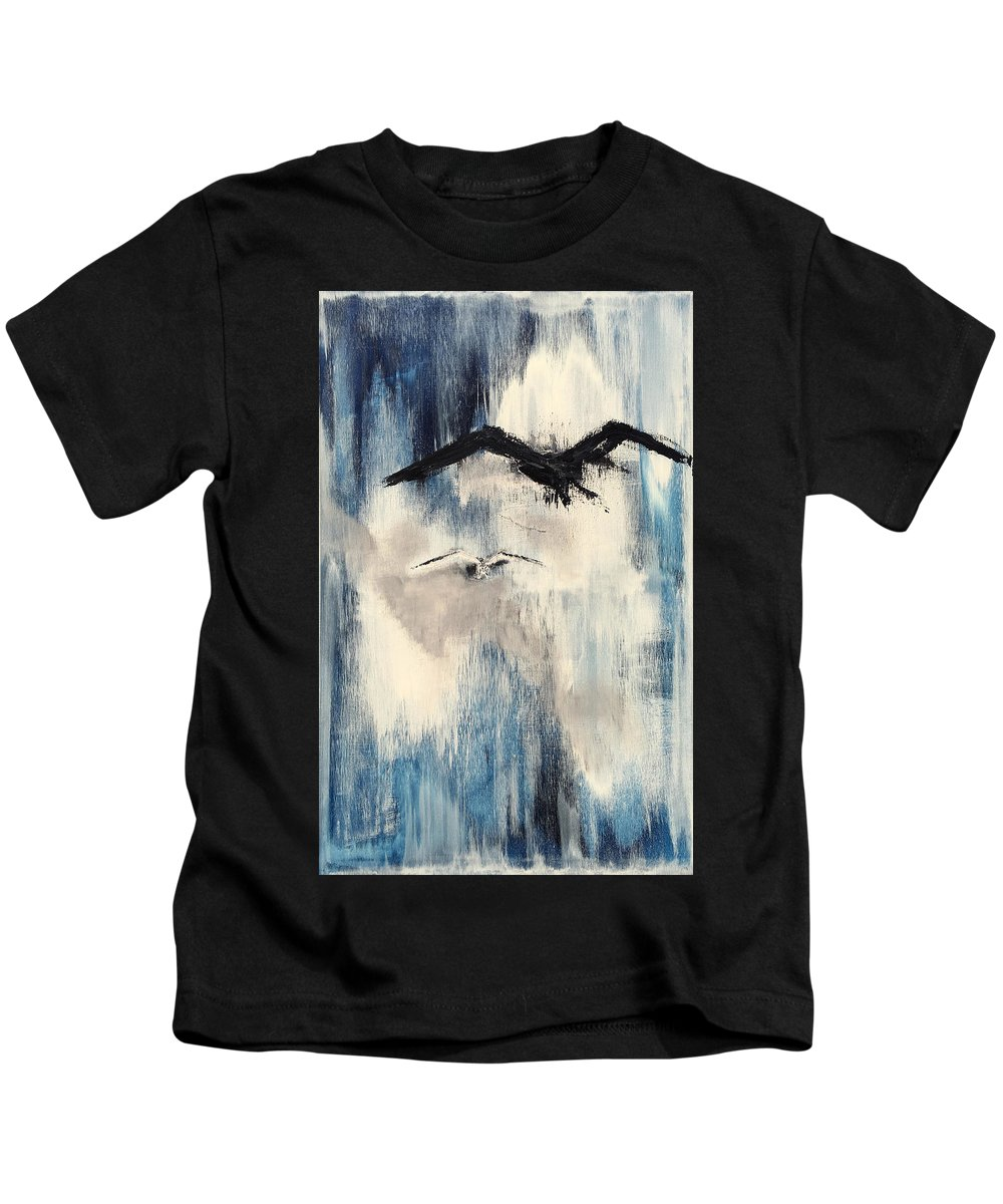 Abstract Kids T-Shirt featuring the painting Find Your Peace. by Kelly Fitzpatrick