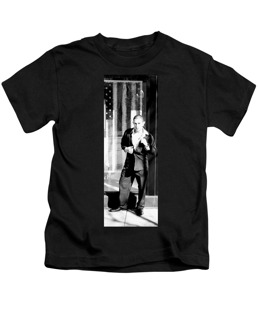 America Kids T-Shirt featuring the photograph Fine American Model by Angus Hooper Iii
