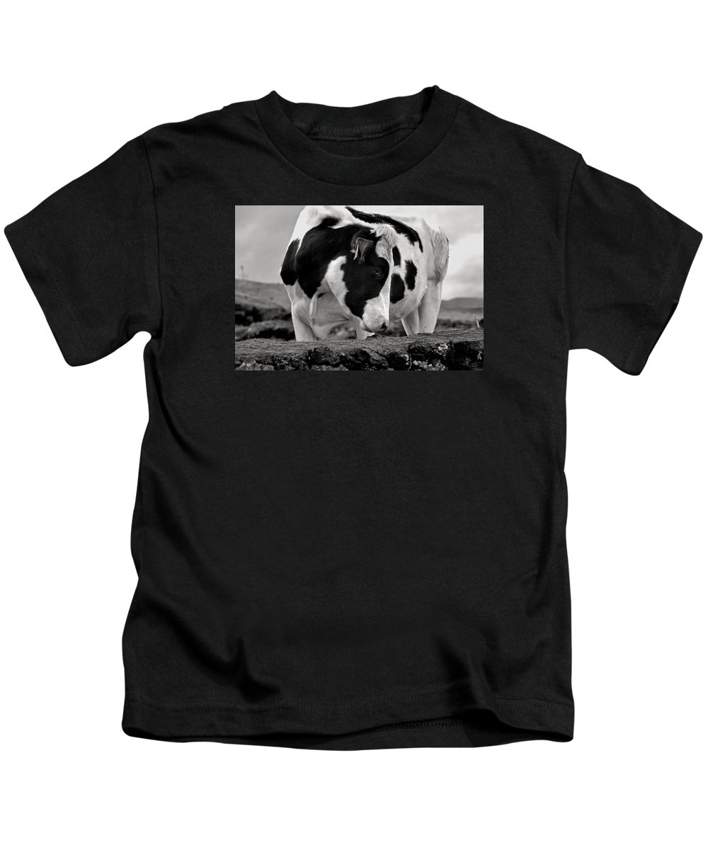 Abstract Kids T-Shirt featuring the photograph Fine Art Black And White-189 by Joseph Amaral