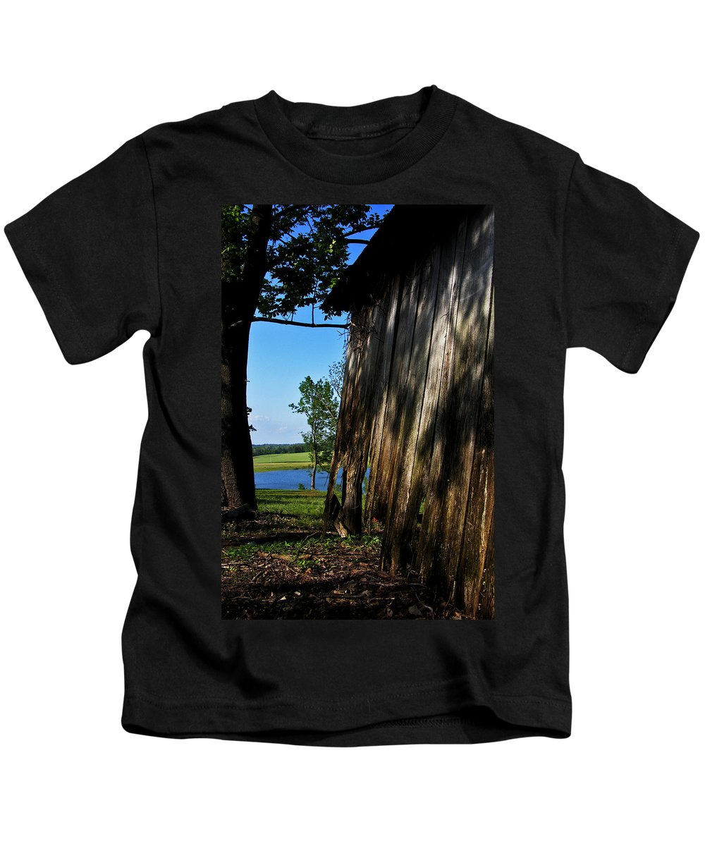 Landscape Kids T-Shirt featuring the photograph Fine Woodwork by Rachel Christine Nowicki