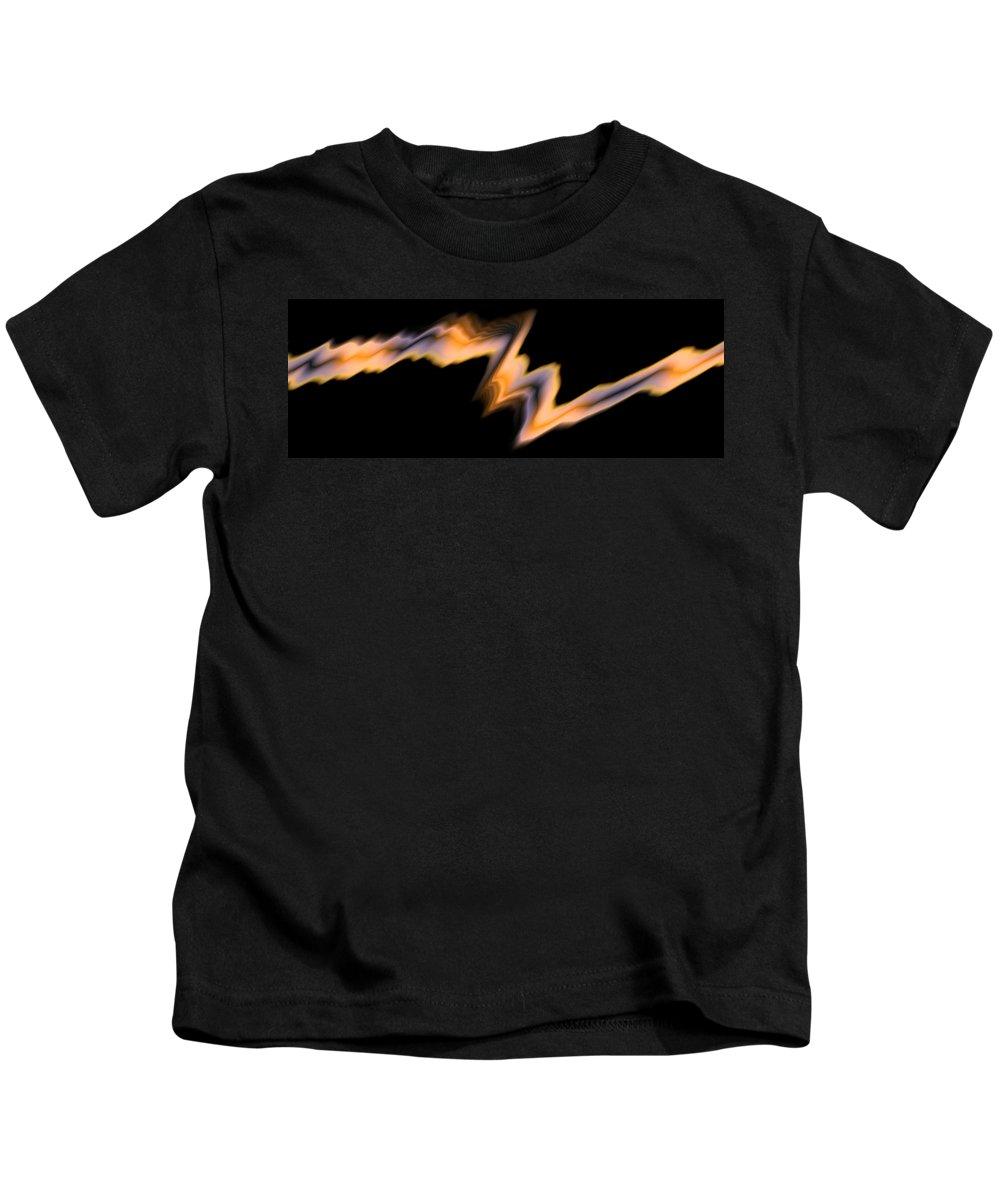 Art Digital Art Kids T-Shirt featuring the digital art Fire by Alex Porter