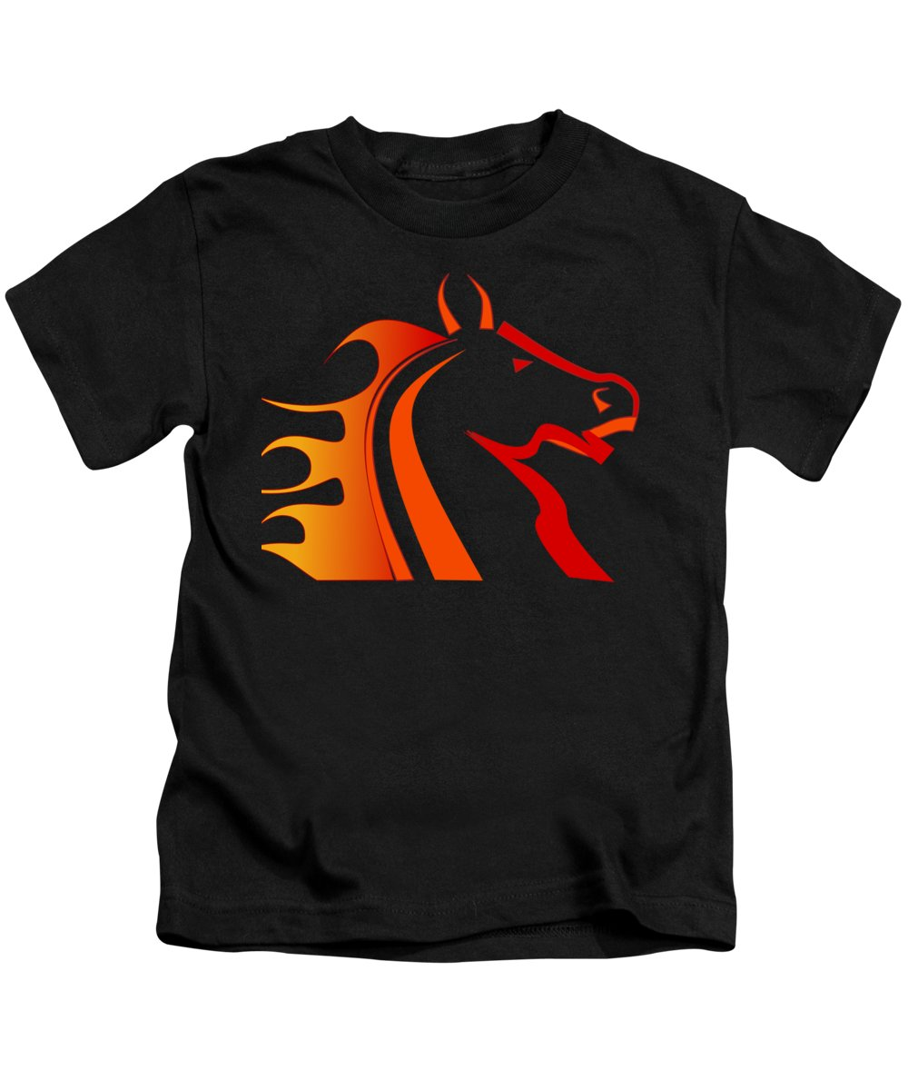 Rider Digital Art Kids T-Shirts